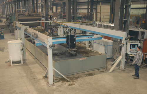 Large 10x24 gantry at stainless steel technology