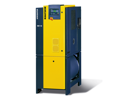 Airtower screw compressor with tank and dryer tcm9 330808