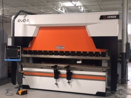 2014 stock ermak evoii 3100 110 6 axis hybrid press brake front pic