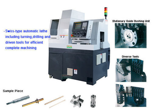 Xknc sal12 sal16 swiss type cnc automatic lathe