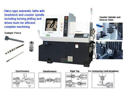 Xknc s12f s16f swiss type cnc automatic lathe