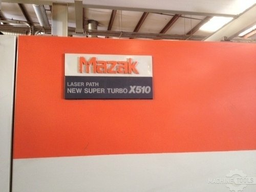 1991 mazak super turbo x510 1500 w front name plate pic