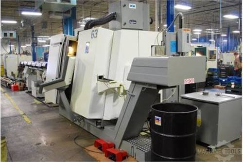 Deckel maho gildemeister model 65 twin turret spindle live tool cnc lathe  2005 2