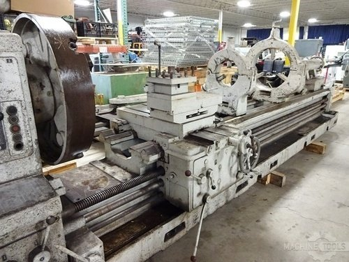 Meuser geared head gap bed engine lathe2