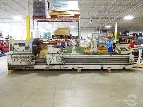 Meuser geared head gap bed engine lathe3