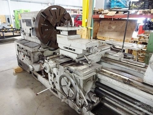 Meuser geared head gap bed engine lathe4