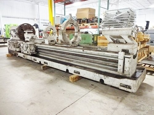 Meuser geared head gap bed engine lathe6