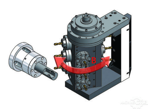Cad drawing of b axis