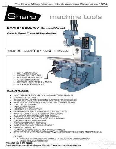 6500hv milling machine brochure  2  page 1