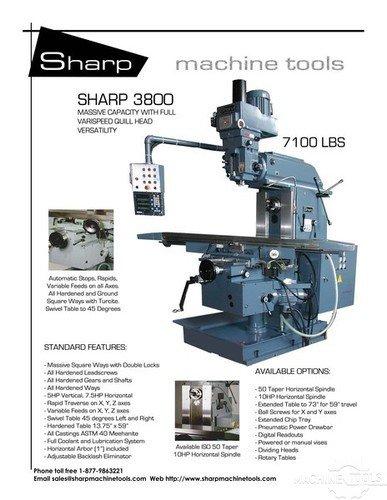 Sharp model 3800 w  specs page 1