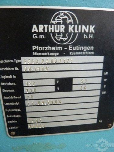 Af916   arthur klink rsha 2500 225 14