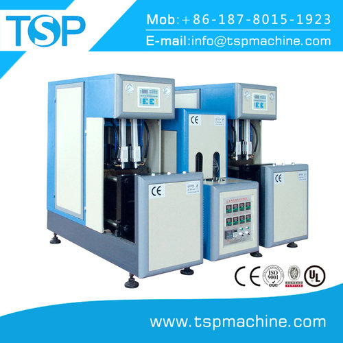 Semi automatic two blower one heater blow molding machine