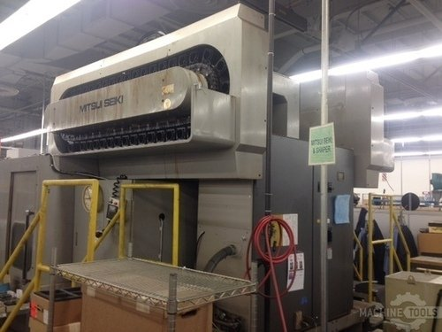 Mitsui seiki vs5a ds cnc dual spindle vertical machining center 2606b