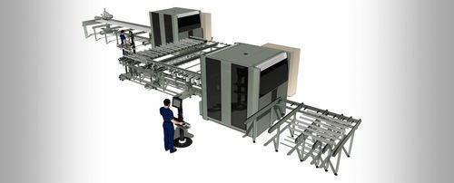 Cnc machining center   3 axis   universal   multispindle doppia quadra