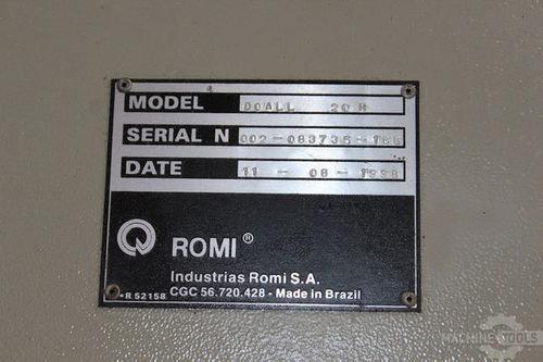 Doall romi 20h lathe 27