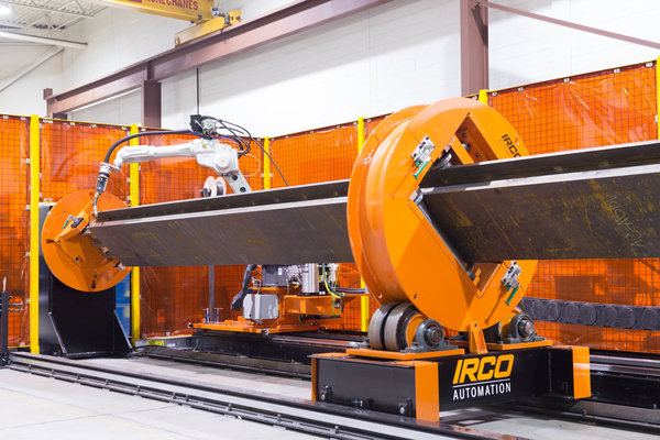 Robotic beam welding system   heavy deposition mig welding   through arc seam tracking irco automation