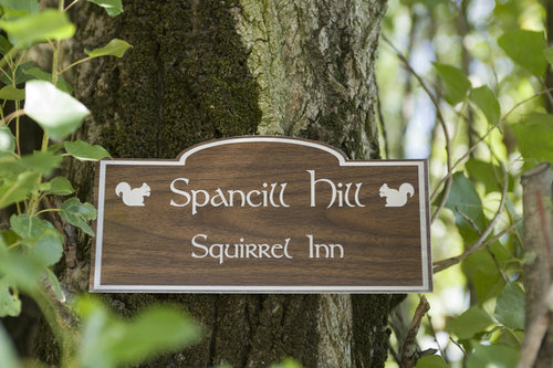 Con a woodensign squirrelinn