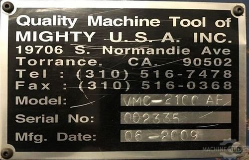 Mighty viper used vmc 2100 ap