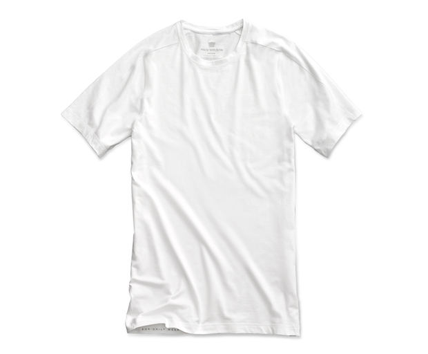 6d3a0c8808e9 Mack Weldon | Men's 18-Hour Jersey Crew Neck Undershirt - Classic neckline  and forward shoulder seams.