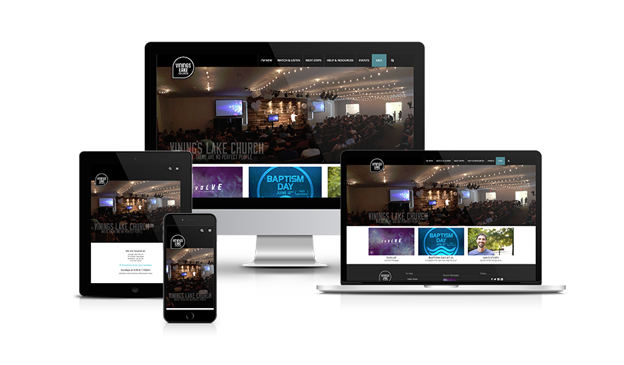 Vinings Lake Church Responsive Site