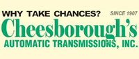 Website for Cheesborough's Automatic Transmissions, Inc.