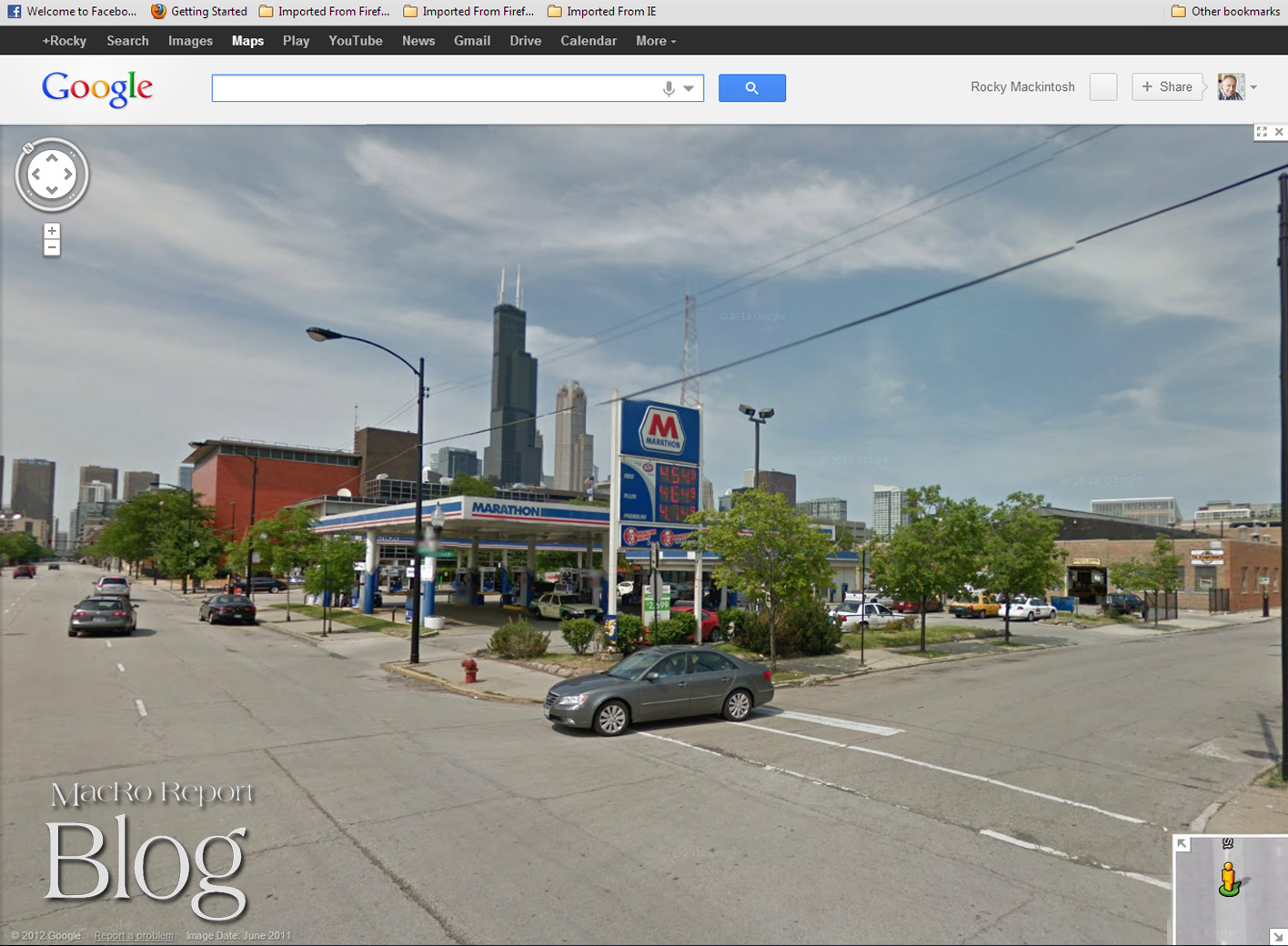 Tracking my Missing iPad street view - N Jefferson and W Grenshaw