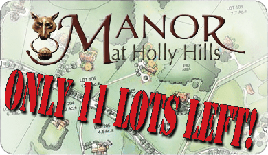 Spring 2013 - Only 11 Lots Left at Manor at Holly Hills