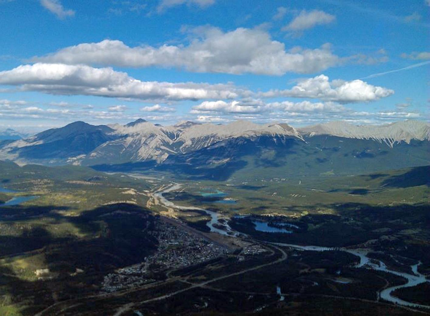 View from Whistlers Peak of Jasper Alberta Canada - MacRo Report Blog