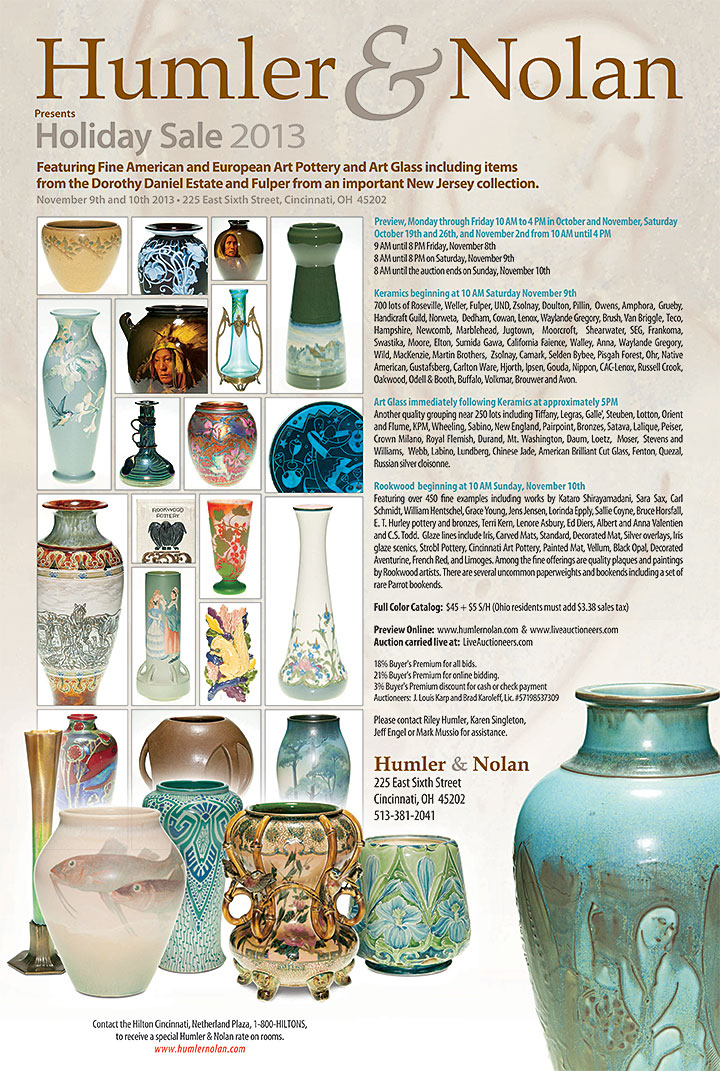 Humler & Nolan Holiday Sale 2013 Pottery & Art Glass