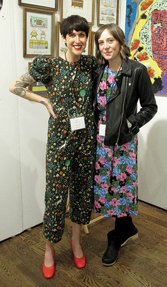 Lucy Gross, on the left, and Katie Stahl of SAGE Studio, Austin, Texas.