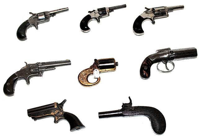 Group of 7 pistols