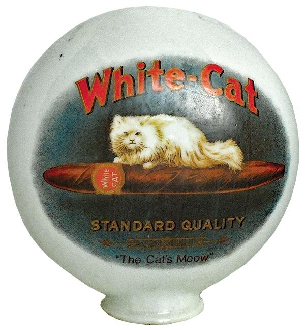 Adv. - White Cat Cigars Globe