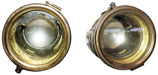 Auto - Pair Headlights, brass