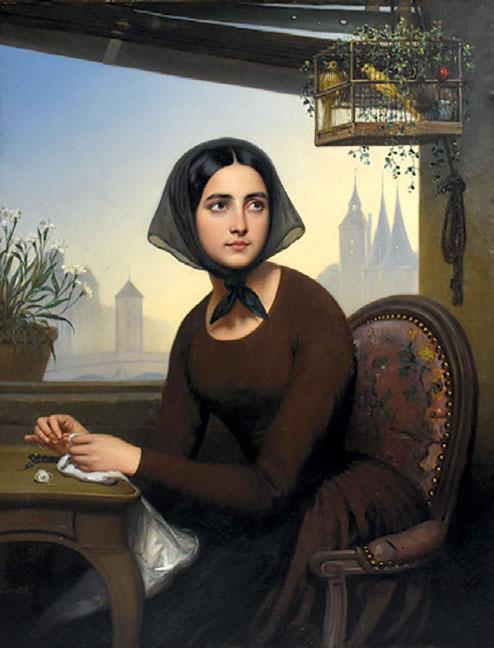 Rigolette, by Joseph Desire Court, ca. 1846