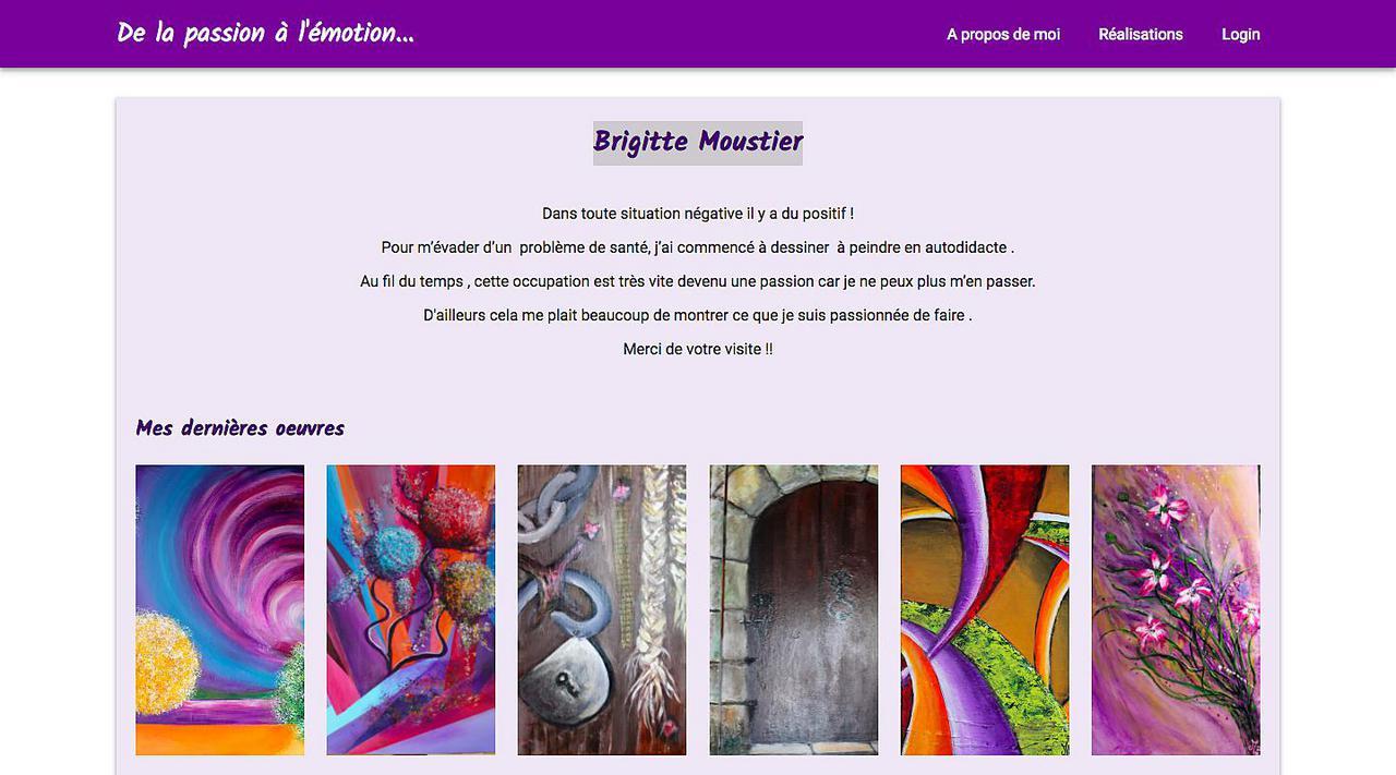 Brigitte Moustier, de la passion a l'emotion