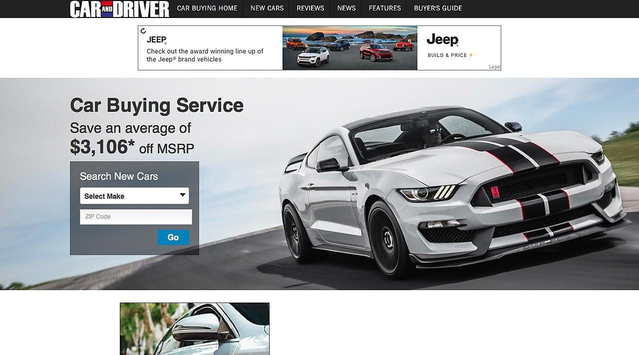 Car and Driver Car Buying Service