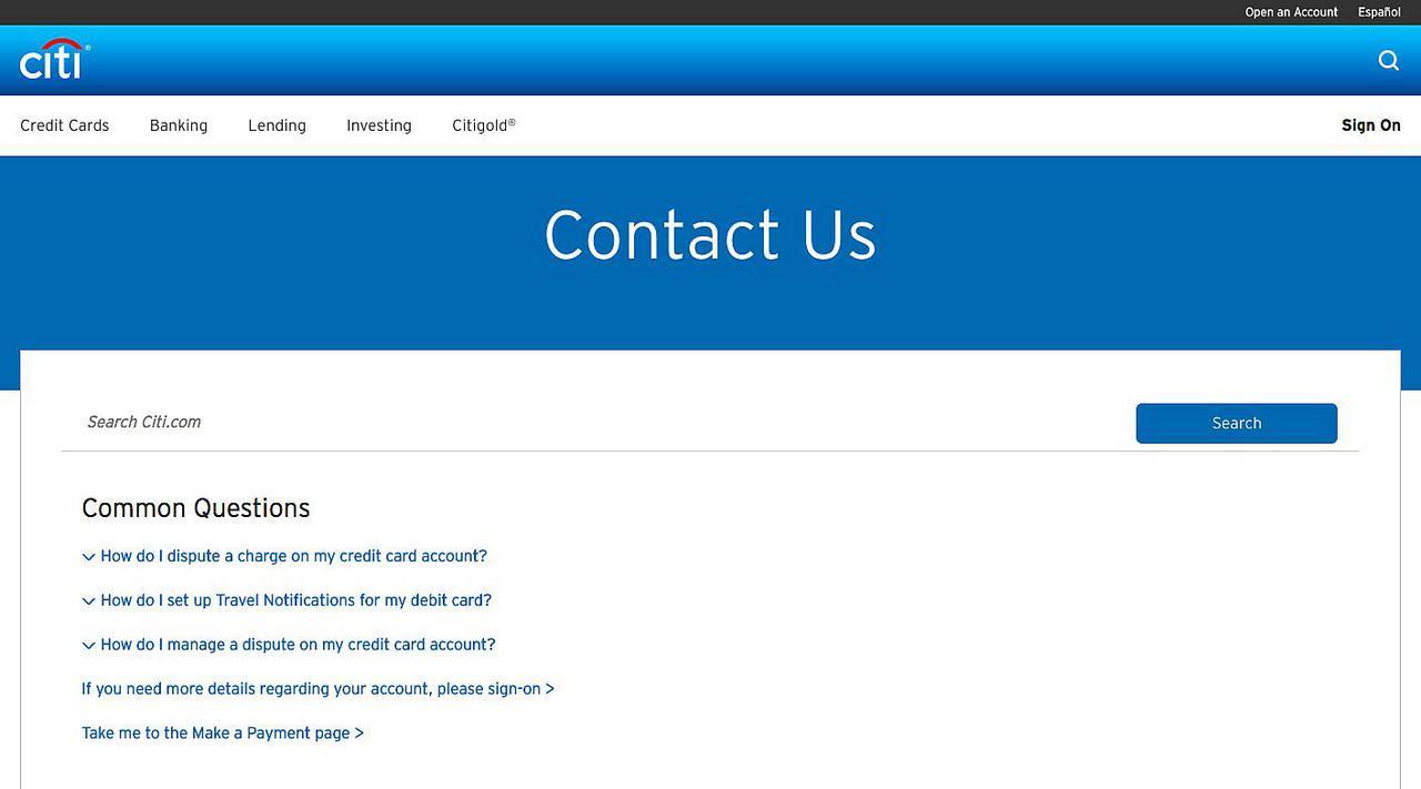 Citibank Customer Service