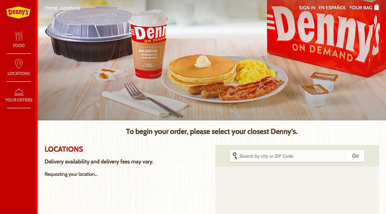 Denny's Online Ordering