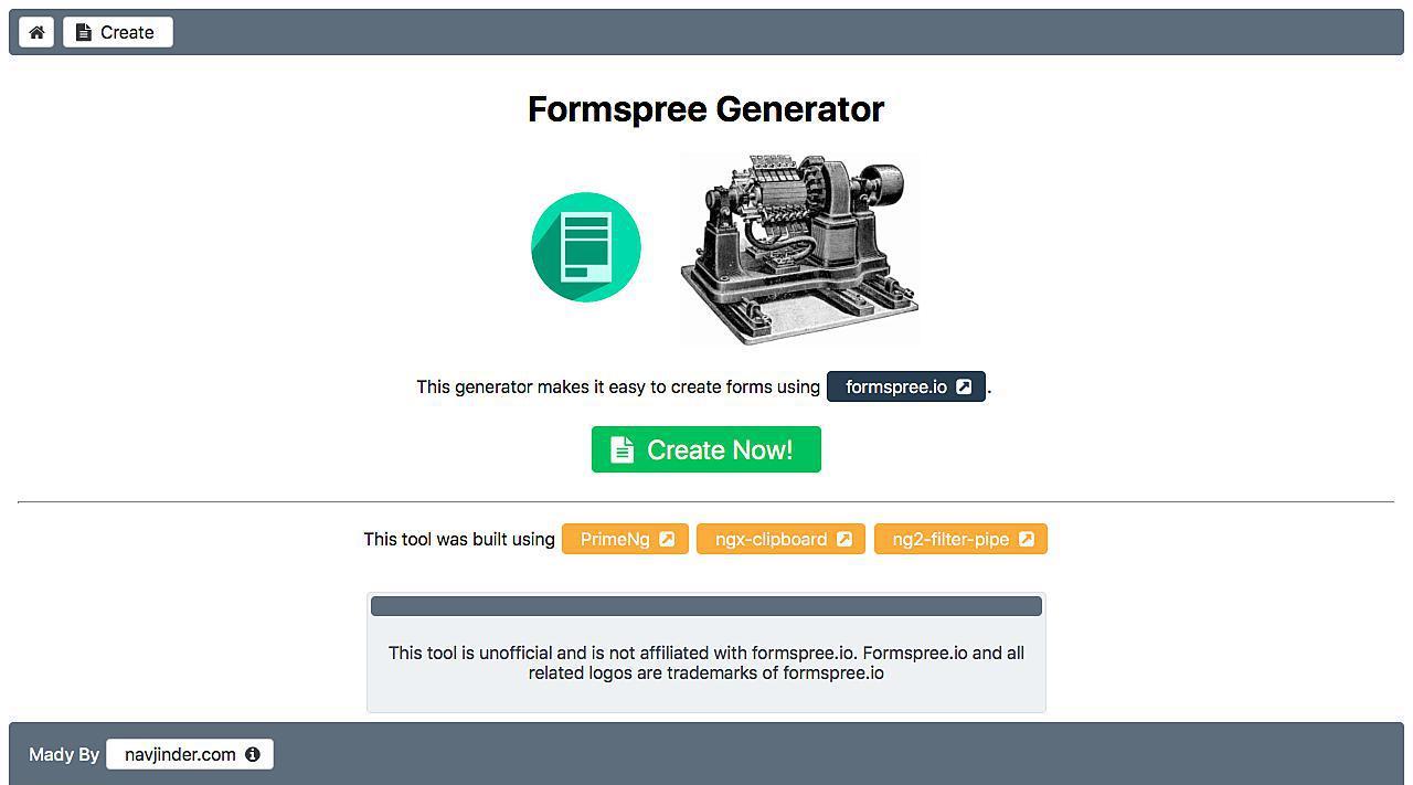 Formspree Generator