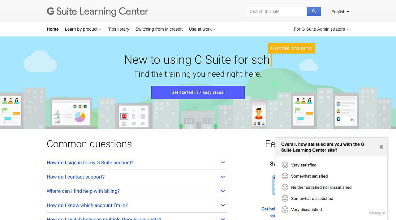 Google Apps Learning Center