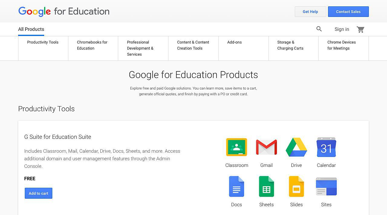 Google for Education Products