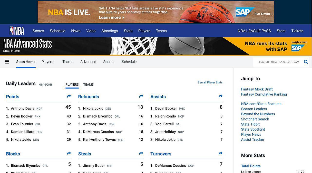 NBA.com Stats