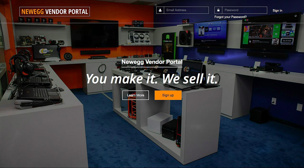 Newegg Vendor Portal