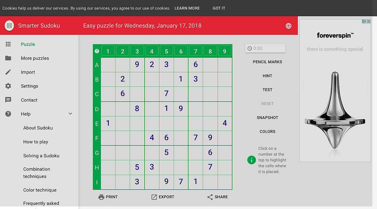 Smarter Sudoku