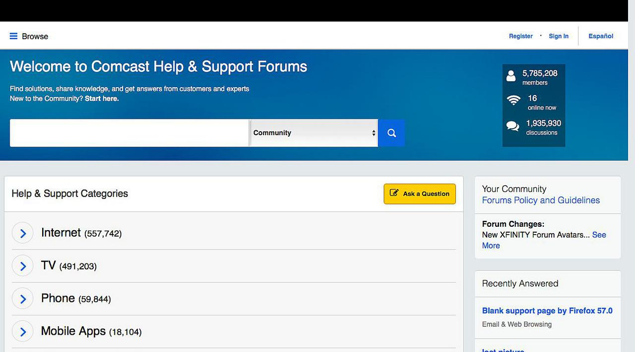 Xfinity Help and Support Forums