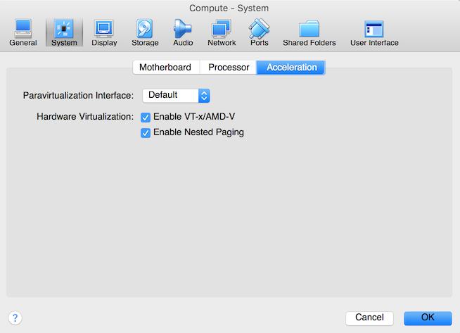 VirtualBox Compute Accleration