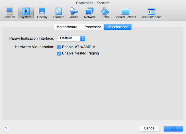 VirtualBox Controller Accleration