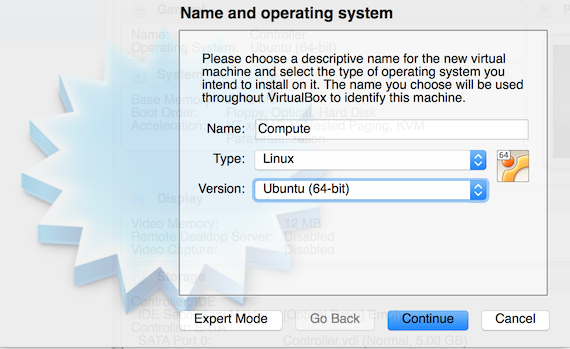 VirtualBox New Compute - Ubuntu