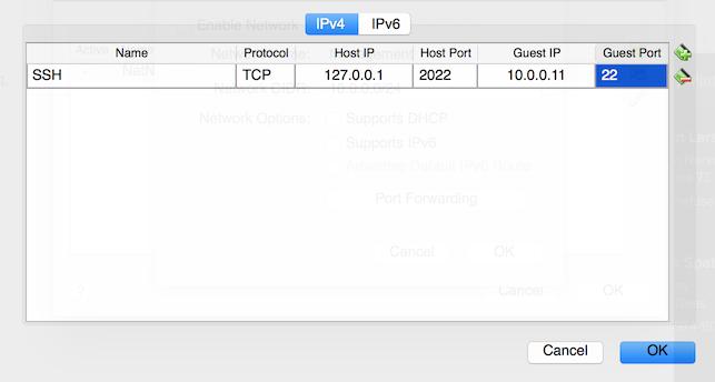 VirtualBox Port Forwarding