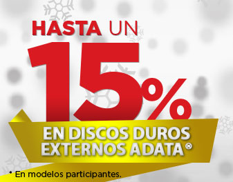 HASTA 15% EN DISCOS DUROS EXTERNOS ADATA
